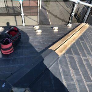 千葉県千葉市稲毛区 T様邸 屋根塗装・外壁塗装・防水工事 屋根の棟板金交換 化粧スレート屋根の部分差し替え (4)